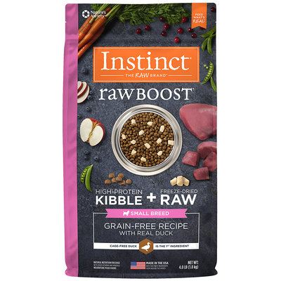 Natures Variety Nature's Variety Instinct Raw Boost Small Bites Grain Free Duck Dry Dog Food, 4 lbs.