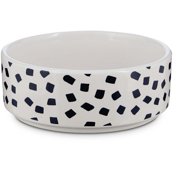 Harmony Navy and White Confetti Dog Bowl, 1 Cup, Small