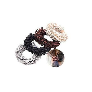 8 Pcs Women High Elasticity Corn Flower Hair Circle Scrunchie Hair Rope Elastic Hair Bands Cotton Stretch Hair
