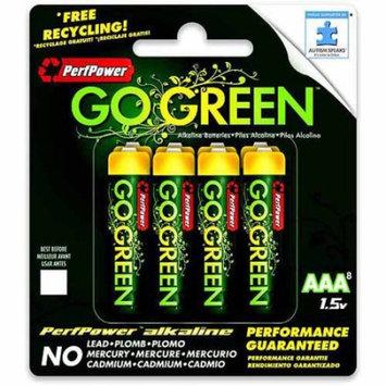 Go Green Power Inc. AAA Alkaline Batteries, 4 Count
