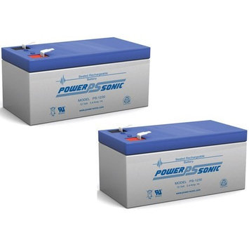 Power-Sonic - BATTERY APC ES, BE350G, BE350T, BE350U, RBC35 12V 3.4AH - 2 Pack - PS-1230MP217