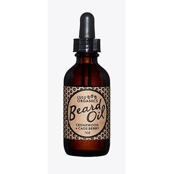 Lulu Organics Cedarwood Beard Oil/Vegan / Cruelty Free/No Synthetic Fragrance