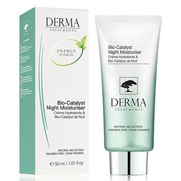 Derma Treatments Bio-Catalyst Night Moisturiser with Vitamin E & Coconut Oil which aims to deeply hydrate and nourish the skin 50ml [Bio-Catalyst Night Moisturiser 50ml]