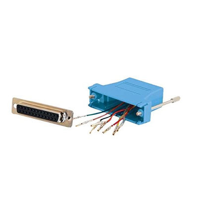C2g Rj45 To Db25 Female Modular Adapter - Blue - 2928