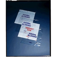 Medegen Medical MAI 70-51 20 x 20 x 4 in. Personal Belongings Bag with Rigid Handle Clear - 250 per Case