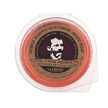 Colonel Ichabod Conk AMBER Super Bar Shave Soap 3-3/4 oz - Extra Large Size by Col Conk