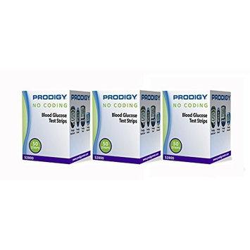 Prodigy No Coding Blood Glucose Test Strips, 150ct