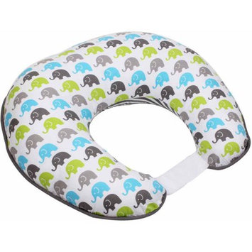 Bacati Elephants Aqua/Lime/Grey Nursing Pillow Cover