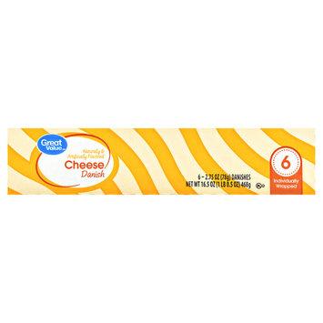 Great Value Cheese Danish, 6 - 2.75 oz danish