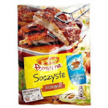 Winiary Juicy Ribs Seasoning Mix with Baking Bag Pomysl na Soczyste Zeberka 28g Bag (3-Pack)