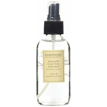 evanhealy Immortelle Facial Tonic HydroSoul for All Skin Types, Softens the Appearance of Scars with Certified Organic Everlasting Hydrosol, Cruelty Free and Vegan, 4 Fluid Ounces