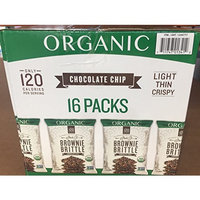 Brownie 16 Count Brittle Vend Organic Chocolate Chip, 1 Ounce