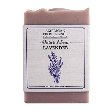 American Provenance 232444 4.75 oz Family Lavender Natural Bar Soap - 6 Bars