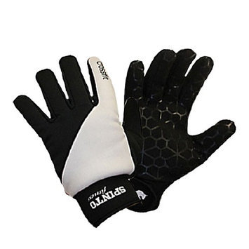 Spinto XFit Gloves, Black/White, M, 1 Medium Pair of Gloves