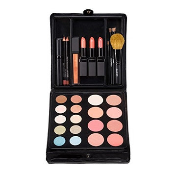 Jill Kirsh Color ultimate all in one mineral make up palette (complete kit w/eyeshadow, lipstick, blush, brushes, contour, gloss, mascara & more) – not tested on animals – Warm Blonde – MADE IN USA