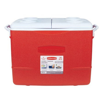 Rubbermaid 48-Quart Chest Cooler with Hinged Lid FG2A1502MODRD