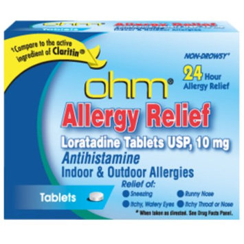 ohm Loratadine Usp 10 mg Allergy Relief Tablets 10 ea