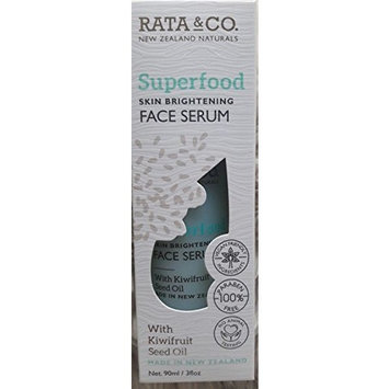 Rata & Co. New Zealand Naturals - Superfood Skin Brightening Face Serum with Kiwifruit Seed Oil - Vegan Paraben Free/No Animal Testing