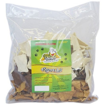 Mr Bites 4-Pound Rawhide Chips for Dogs, Assorted Flavor