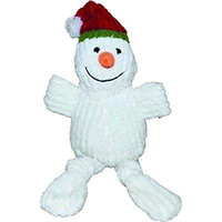 Patchwork Pet Holiday Corduroy Plush Dog Toy - Snowman
