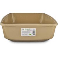 So Phresh Warm Taupe Open Cat Litter Box, Large, White