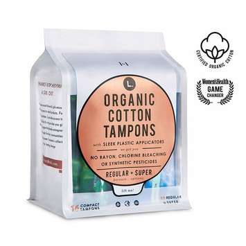 L. Organic Cotton Tampons Regular + Super Absorbency