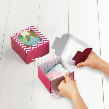 Sweet Creations Chevron Medium Cookie Boxes, Pink, 3 Ct