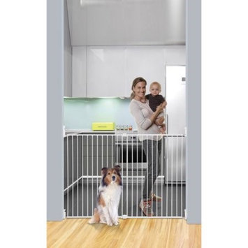 Dreambaby Broadway Gro-Gate with Track-it Technology, White