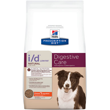 Hills Hill's Prescription Diet i/d Low Fat Digestive Care Natural with Chicken Dry Dog Food, 8 lb bag