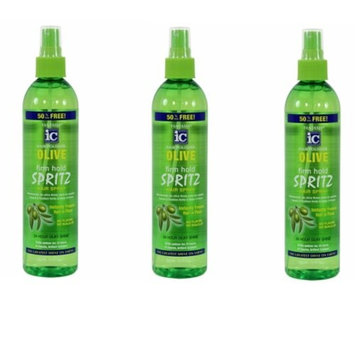 [ trending Pack of 3] FANTASIA IC HAIR POLISHER OLIVE FIRM HOLD SPRITZ 12 FL.OZ : Beauty