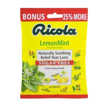 Ricola Ltd. Ricola Lemon Mint Herb Throat Drops Sugar Free - 24 CT