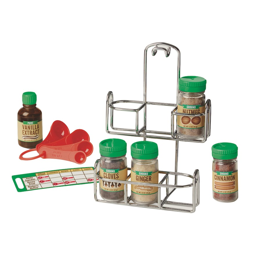 Melissa & Doug Let's Play House! 11 Piece Baking Spice Set