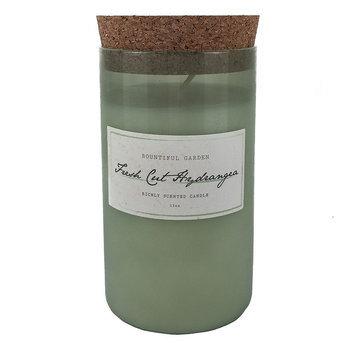 Hawkwood Fresh Cut Hydrangea 13-oz. Candle Jar, Green