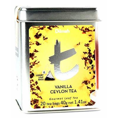 Dilmah Tea, Vanilla Ceylon Tea, 20-Count Luxury Leaf Teabags (Pack of 2)