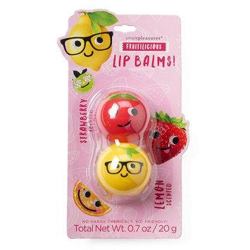 Simple Pleasures 2-pk. Fruitilicious Strawberry & Lemon Lip Balm Pods, Ovrfl Oth