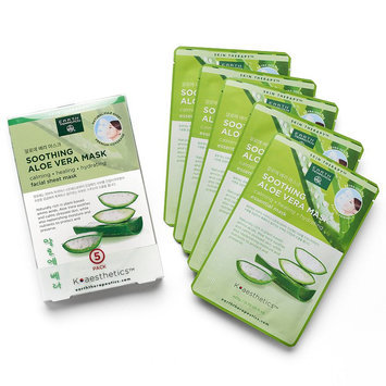 Earth Therapeutics 5-pk. Soothing Aloe Vera Face Masks, Multicolor