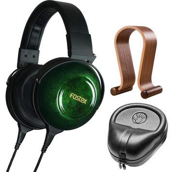 Fostex TH-900mk2 Premium Stereo Headphones Green w/ Wood Headphone Stand & Case