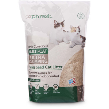 So Phresh Extreme Clumping Scented Grass Seed Cat Litter, 10 lbs.