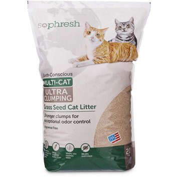 So Phresh Extreme Clumping Unscented Grass Seed Cat Litter, 20 lbs.
