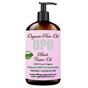 Jamaican Black Castor Oil - 100% Pure, Organic, Cold Pressed, Filtered Hexane & Chemical Free Pharmaceutical Grade Caster - Perfect for Hair, Body, Skin Care - Eyelash, Eyebrow, Hair Growth 8 OZ