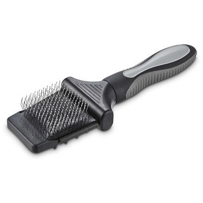 Well & Good Black 2-Sided Slicker Dog Brush, Small