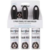 Well & Good Travel Pet Hair Roller 3 Pack Set, 30CT