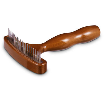Well & Good Wooden Grooming Rake for Dogs