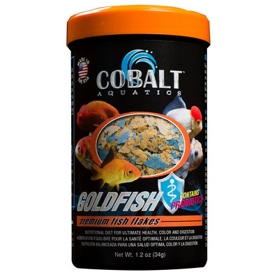 Cobalt Aquatics Goldfish Flakes Premium Fish Food - 1.2 oz