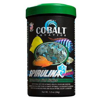 Cobalt Aquatics Spirulina Flakes Premium Fish Food - 1.2 oz