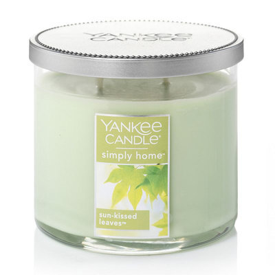 Yankee Candle simply home Sun-Kissed Leaves 10-oz. Candle Jar, Lt Green