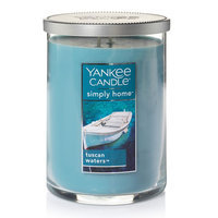 Yankee Candle simply home Tuscan Waters 19-oz. Candle Jar, Med Blue
