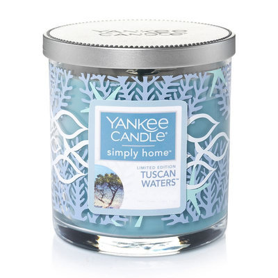 Yankee Candle simply home Limited Edition Tuscan Waters 7-oz. Candle Jar, Med Blue