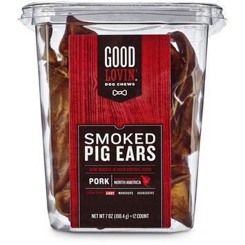 Good Lovin' Smoked Pig Ear Dog Chews, 7 oz.