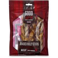 Good Lovin' Braided Bully Stick Dog Chew, 7-inch, Pack of 3